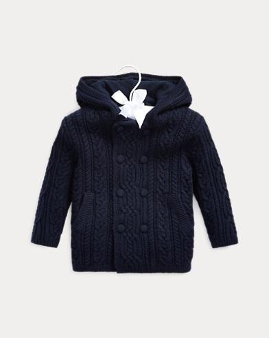 Aran-Knit Merino Wool Jacket