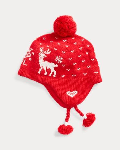 Reindeer Logo Earflap Hat
