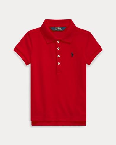 Stretch Cotton Mesh Polo Shirt