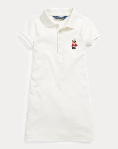 Holiday Bear Mesh Polo Dress