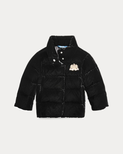 Quilted Velvet Down Jacket