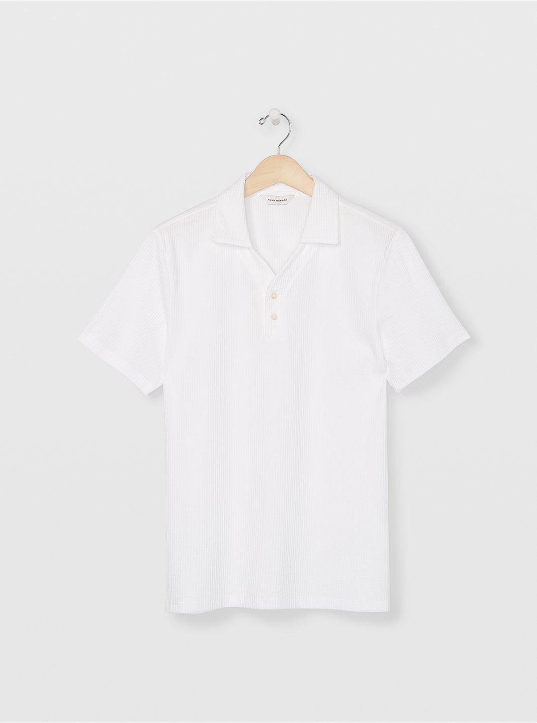클럽 모나코 맨 폴로 셔츠 Club Monaco Split Neck Polo,Blanc De Blanc