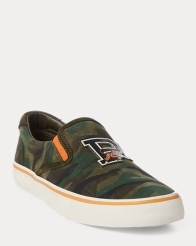 Sneaker Thompson in camoscio camouflage