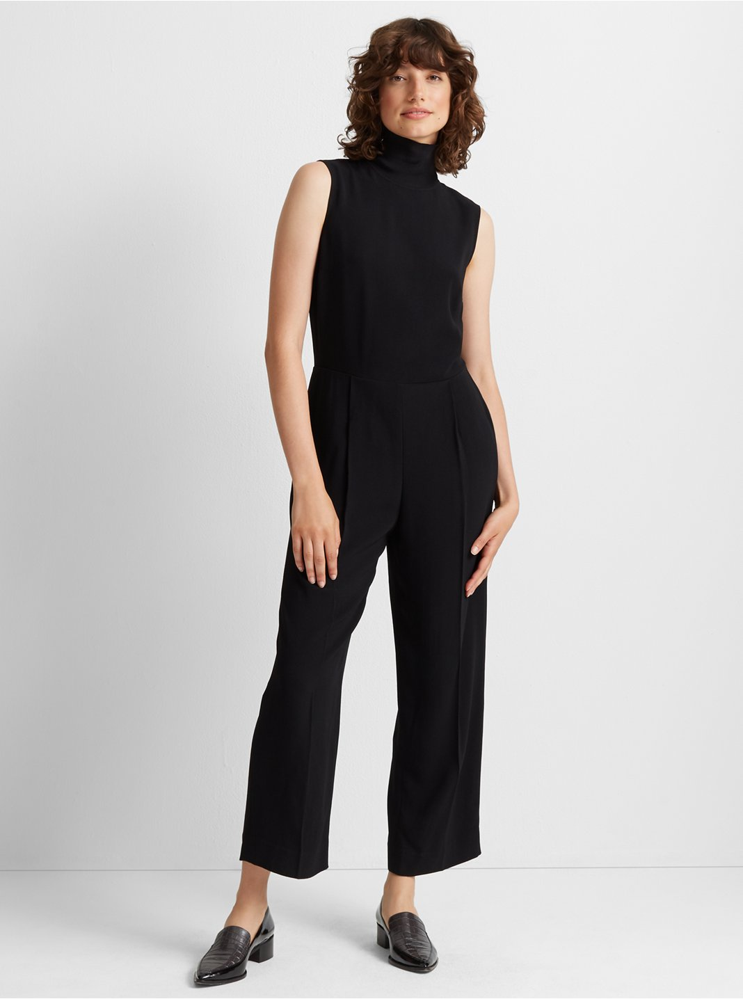 Rib Neck Jumpsuit