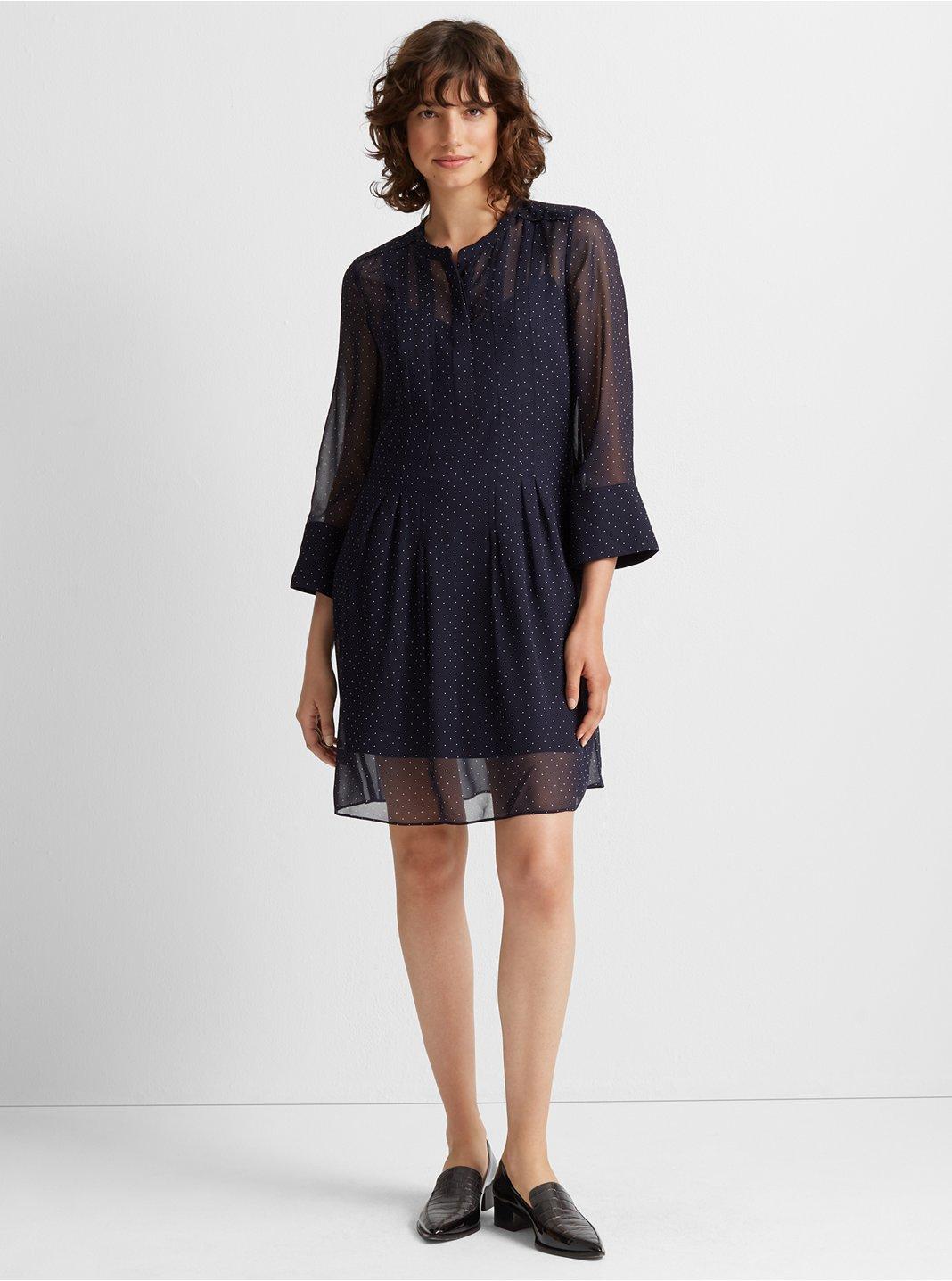 Silk Pintuck Dress