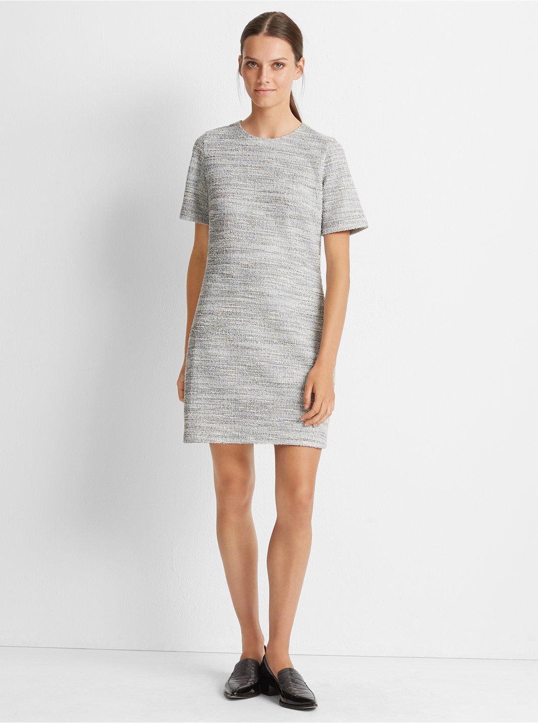 Textured Short Sleeve Dress