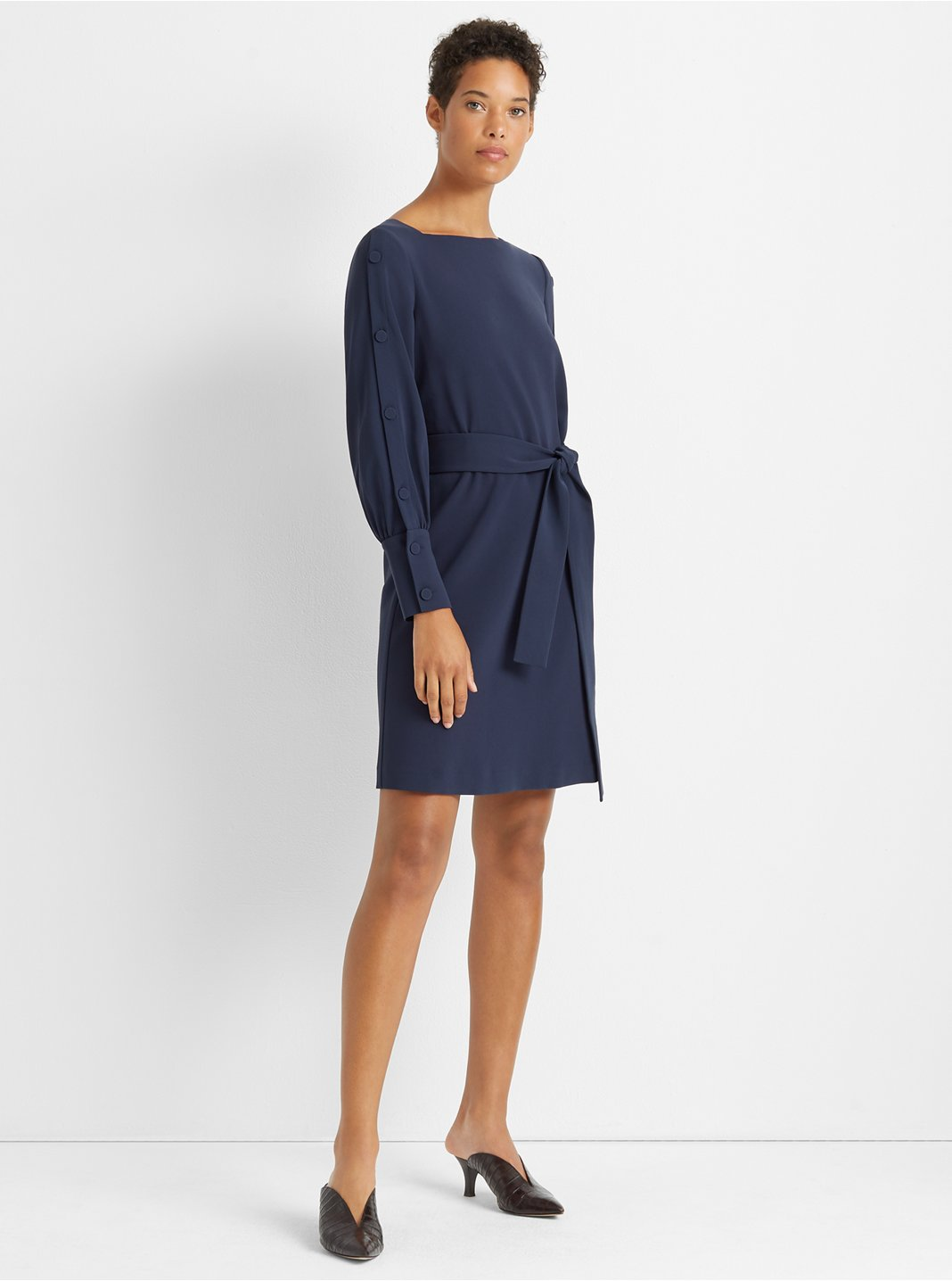 Button Sleeve Dress