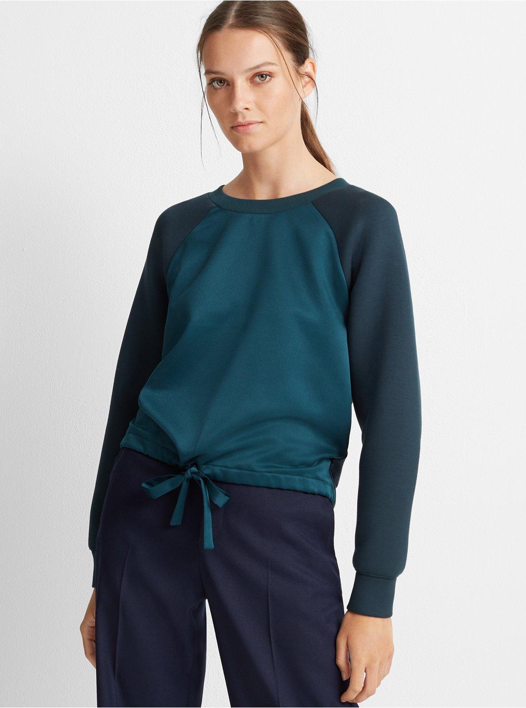 Tie-Front Sweatshirt