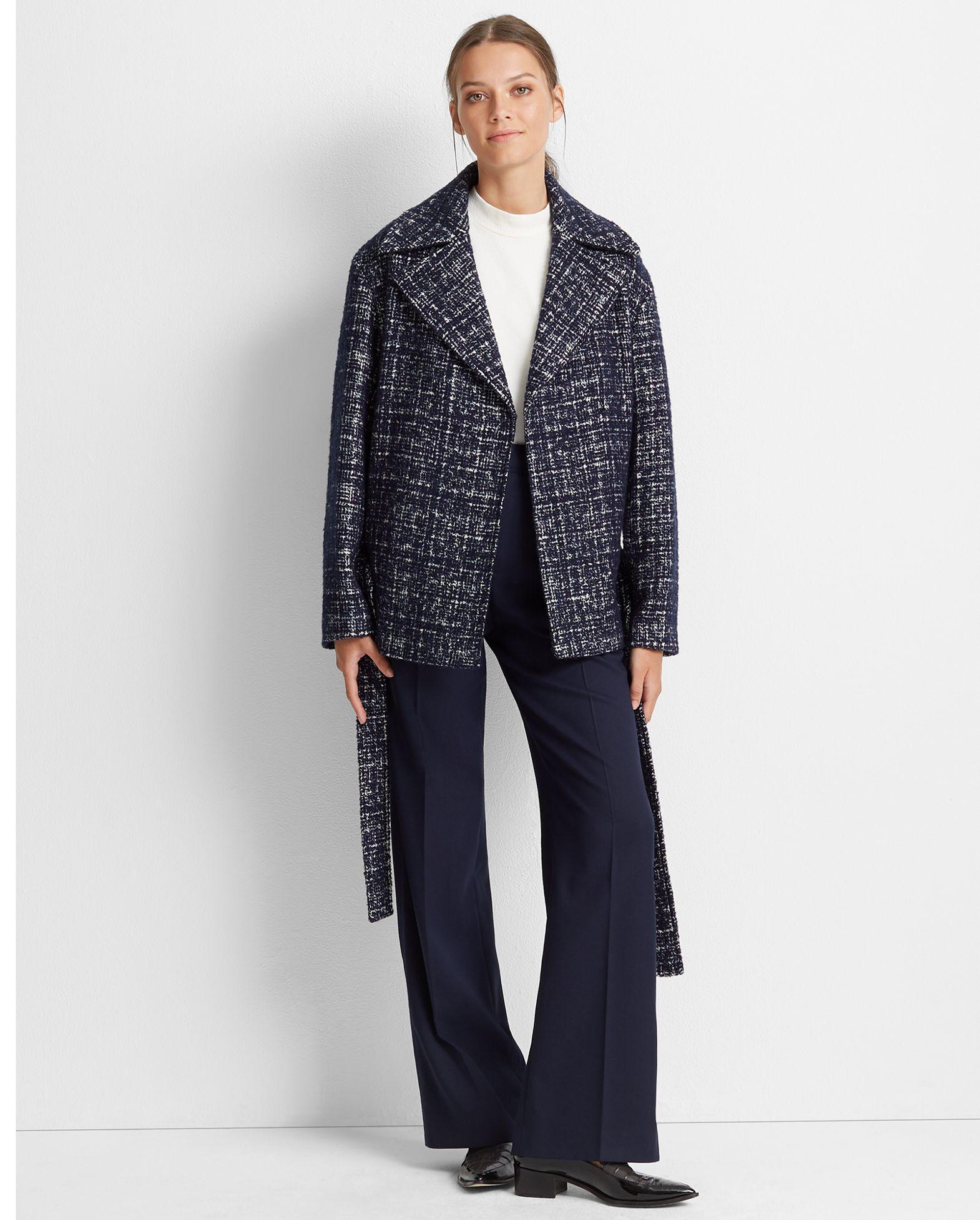CLUB MONACO Textured Belted Coat