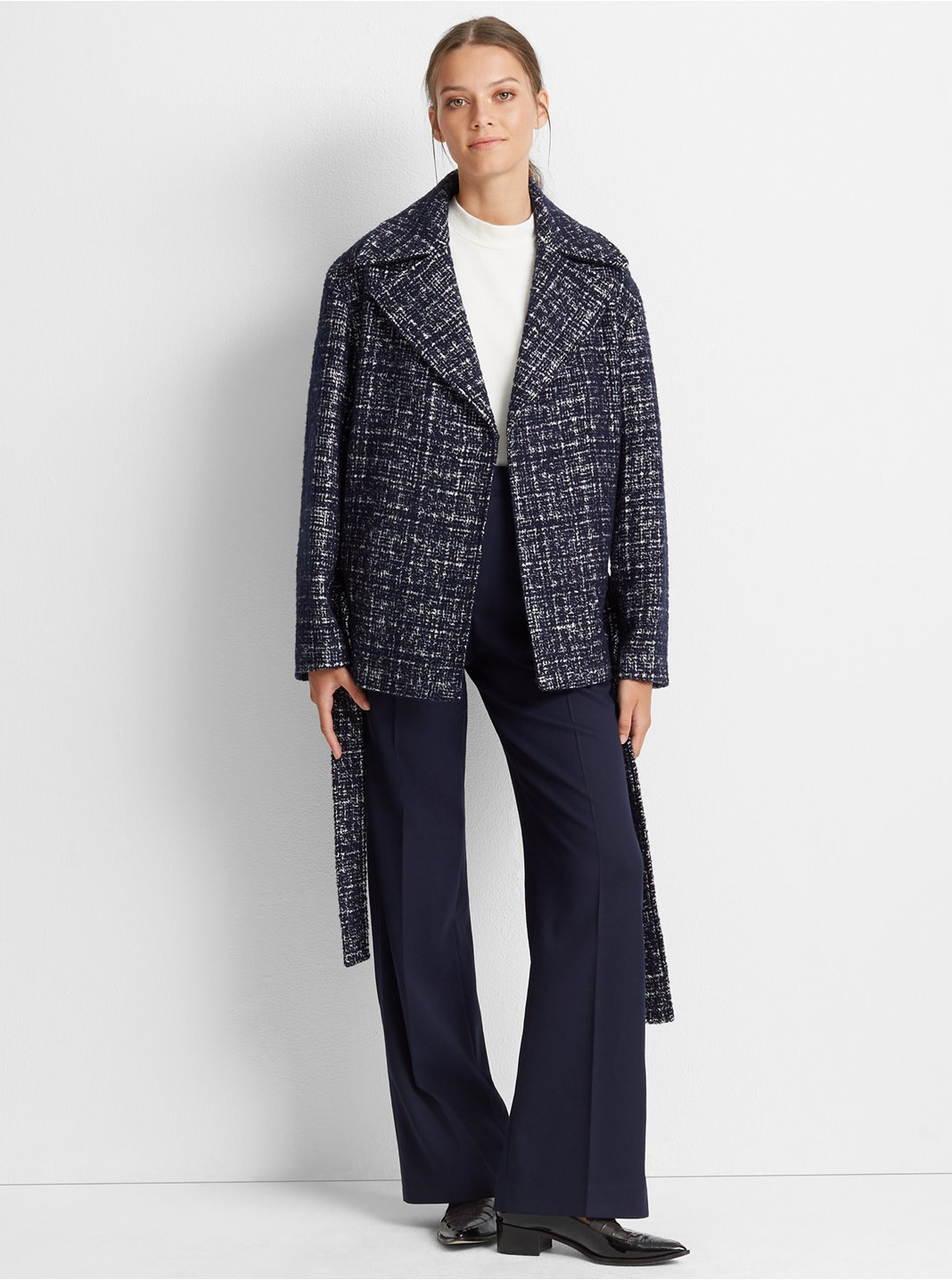 Textured Belted Coat