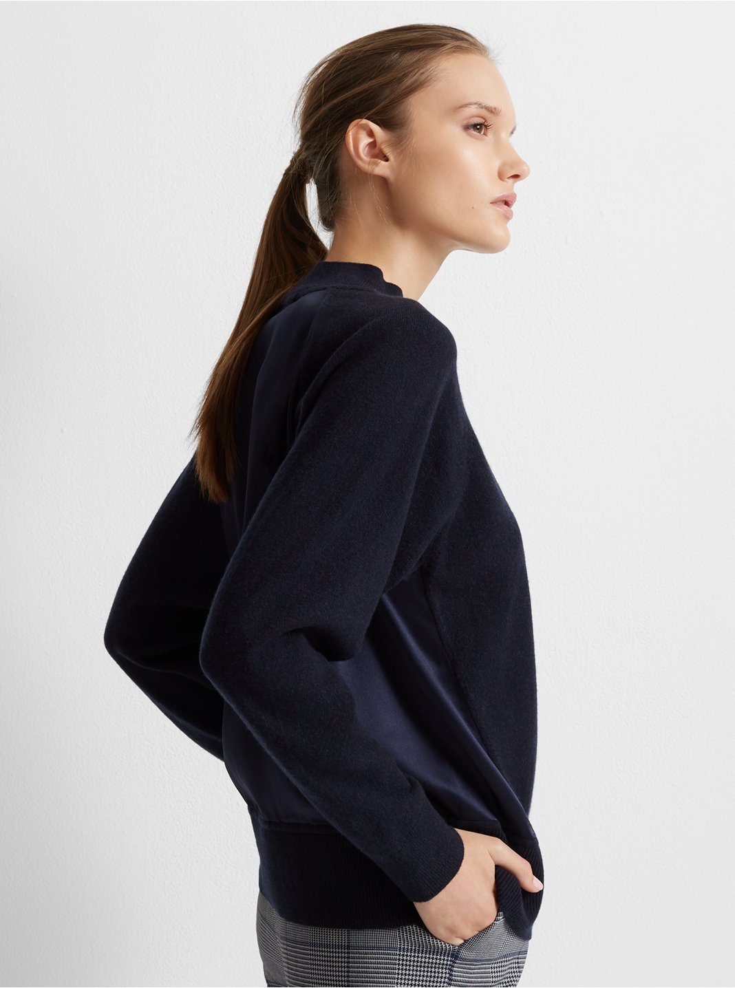 Silk Back Cashmere Sweater