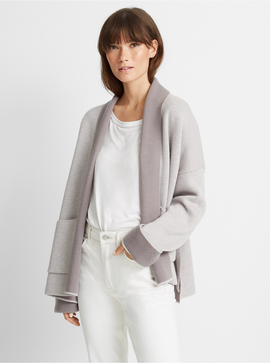 Double-Faced Wool Cardigan