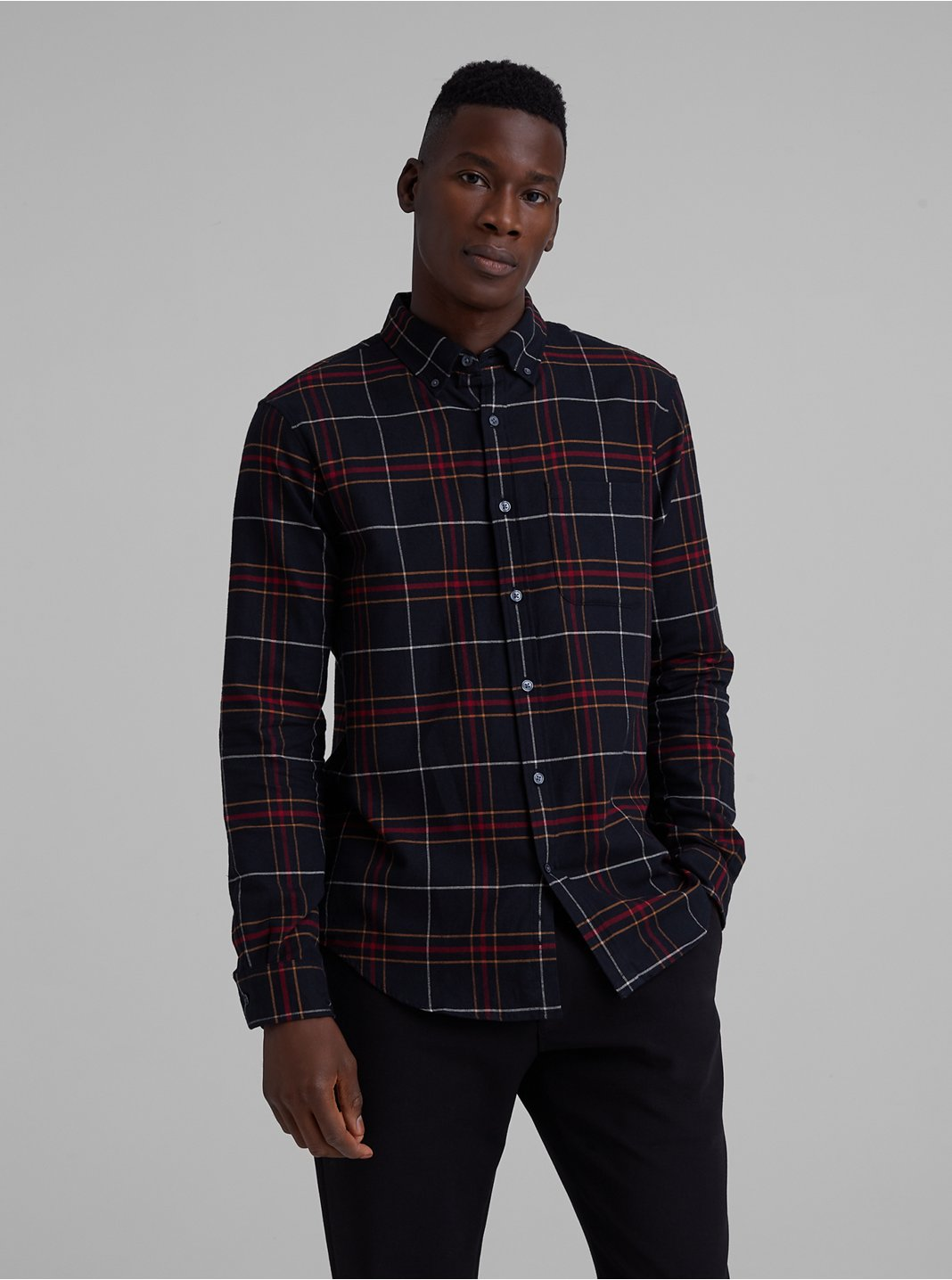 Slim Check Flannel Shirt