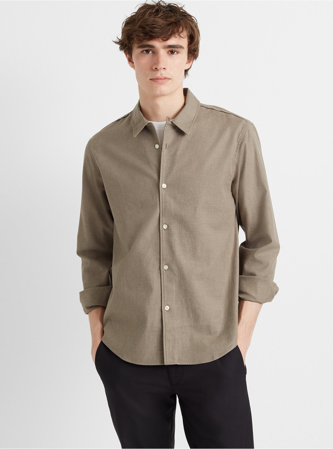 Loop Collar Texture Shirt