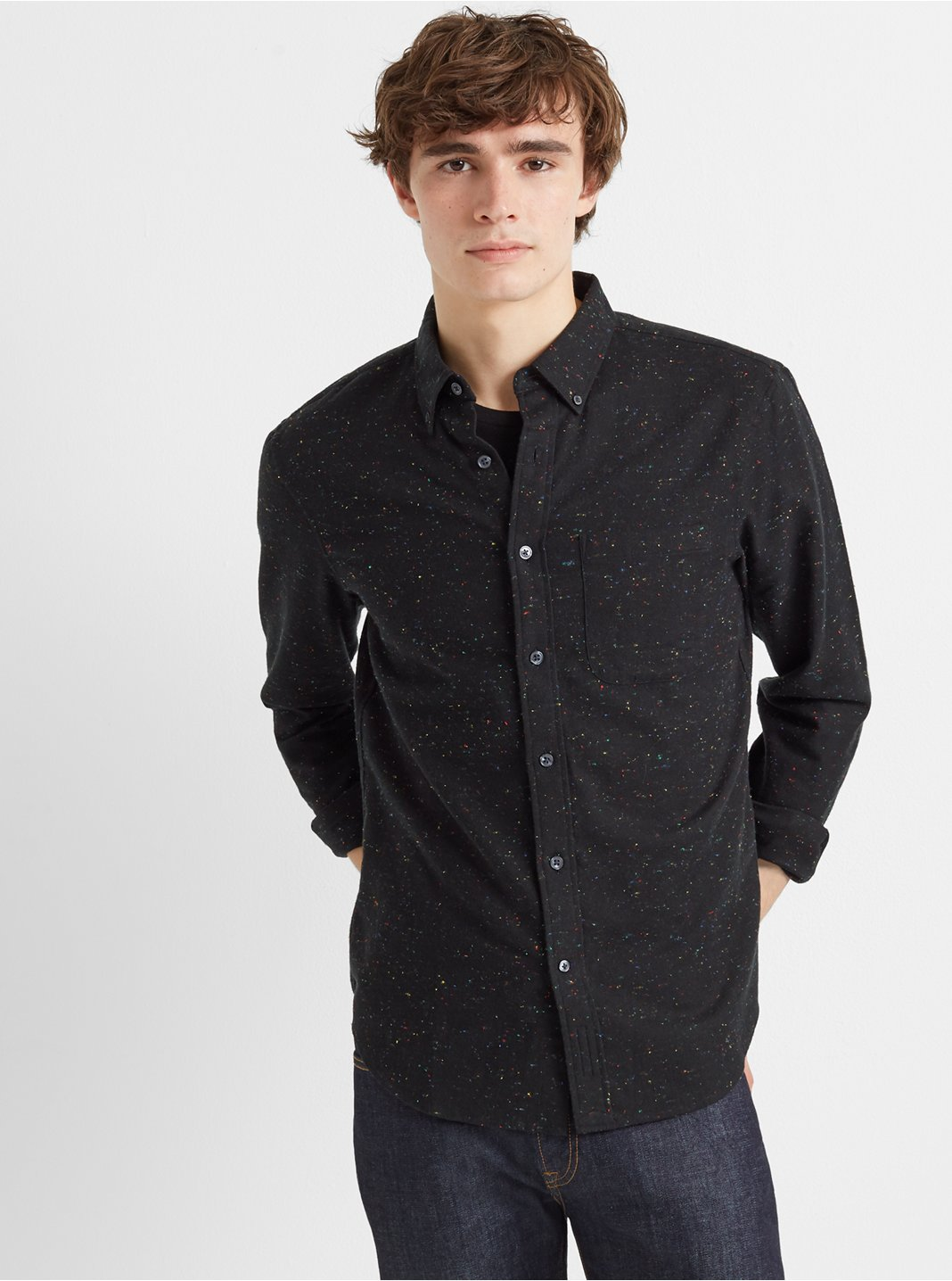 Slim Donegal Twill Shirt