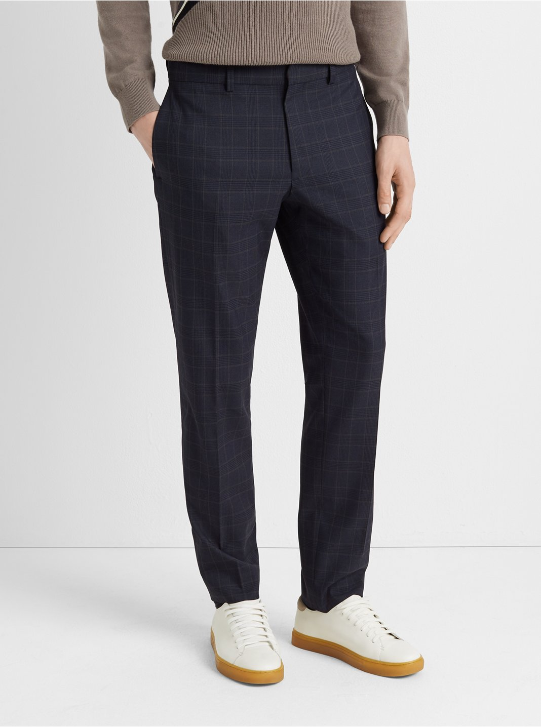 Sutton Plaid Dress Pant