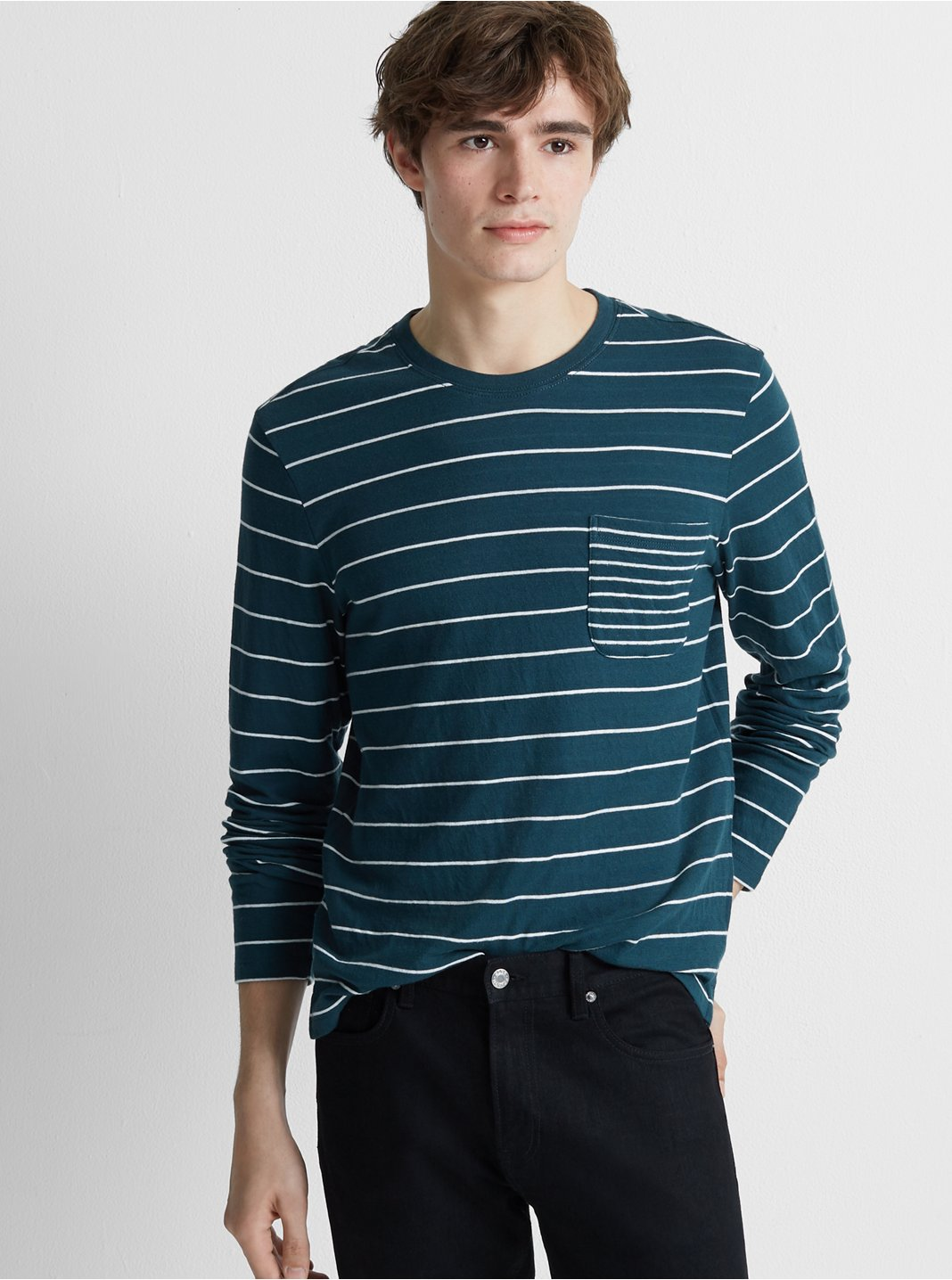Duofold Stripe Pocket Crew