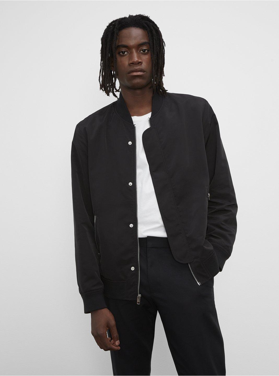 클럽 모나코 맨 봄버 자켓 Club Monaco Bomber Jacket,Black