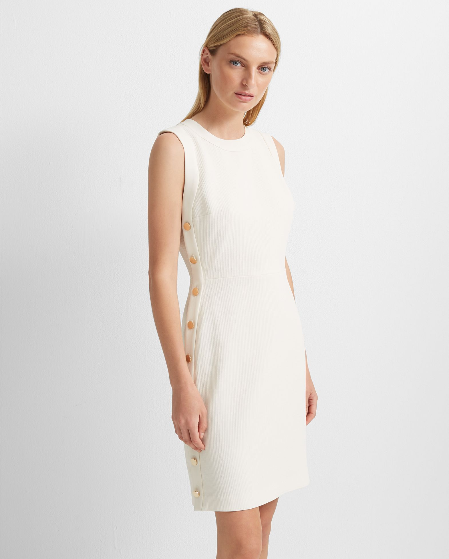 Button Sheath Dress by Club Monaco