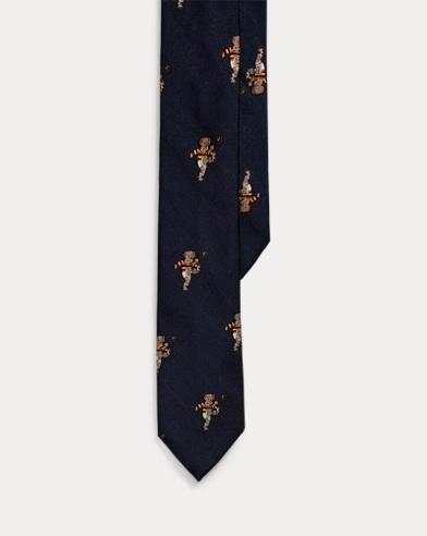 Rugby Bear Silk Tie