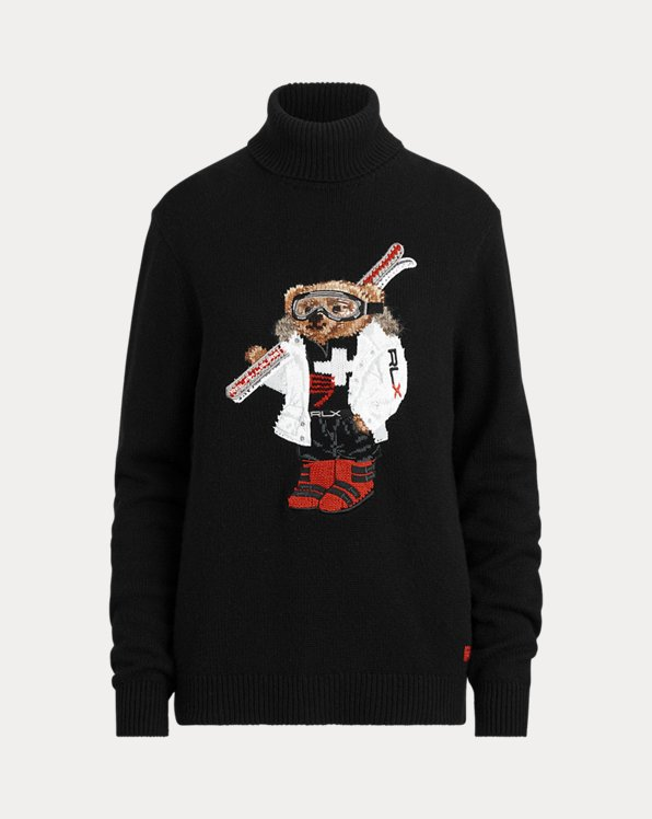 Ski Bear Roll Neck Jumper