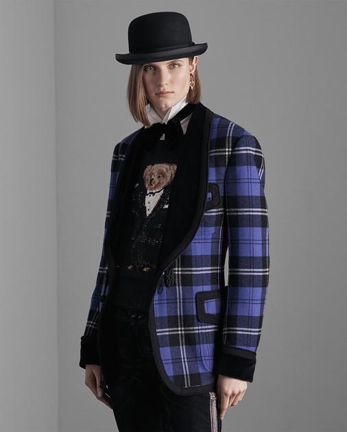 Collection Apparel Wilde Plaid Smoking Jacket 4