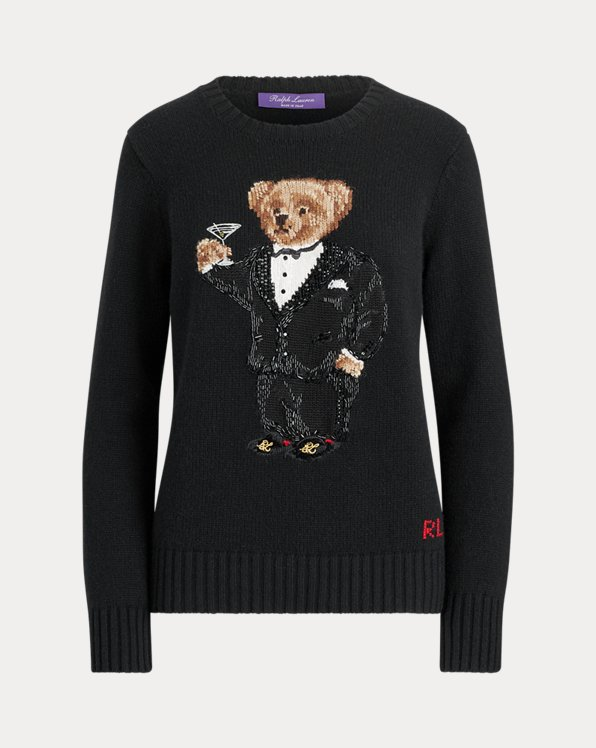 Martini Bear Beaded Jumper