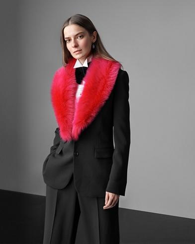 Melea Shearling-Collar Jacket