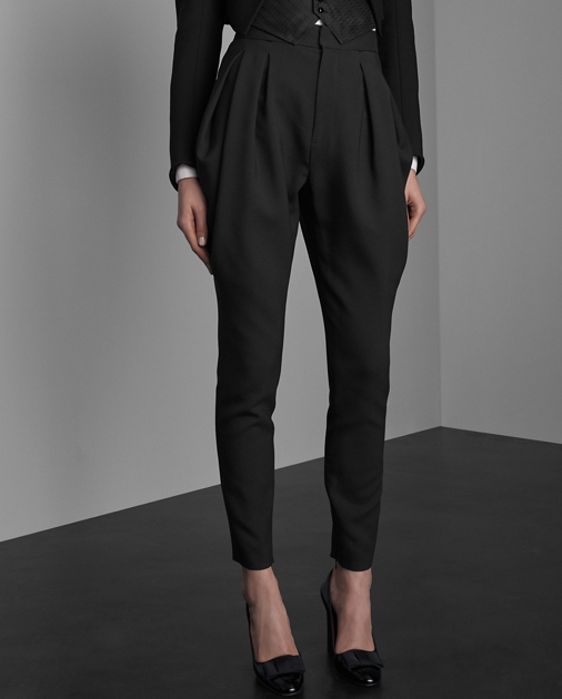 Collection Apparel London Wool-Silk Trouser 3