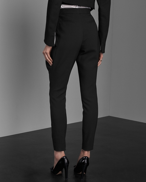 Collection Apparel London Wool-Silk Trouser 4