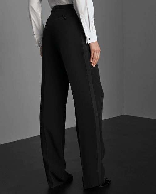 Collection Apparel Winnifred Marocain Tuxedo Trouser 5