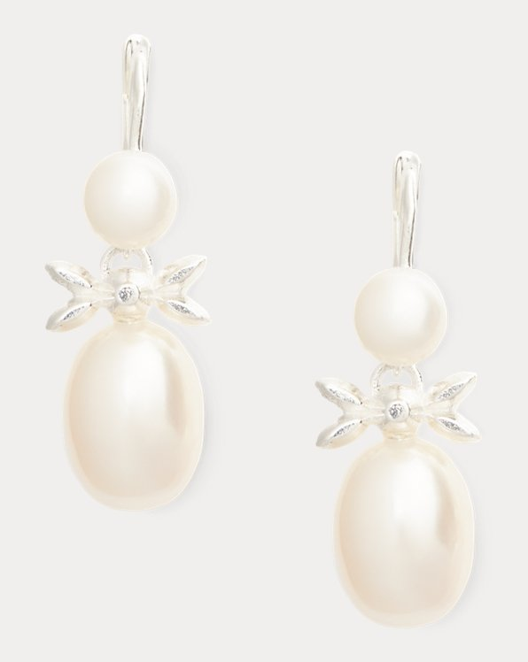 Sterling Silver-Pearl Earrings