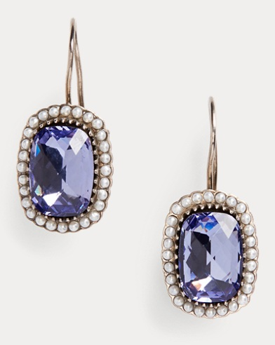 Sterling-Crystal Earrings
