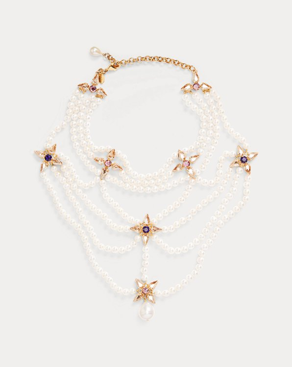 Pearl-Crystal Layered Necklace