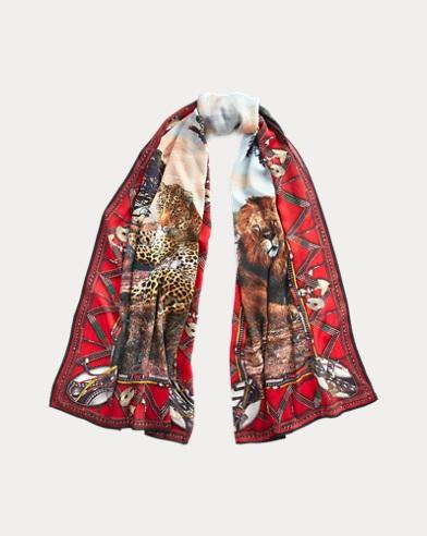 Safari Cashmere-Silk Scarf