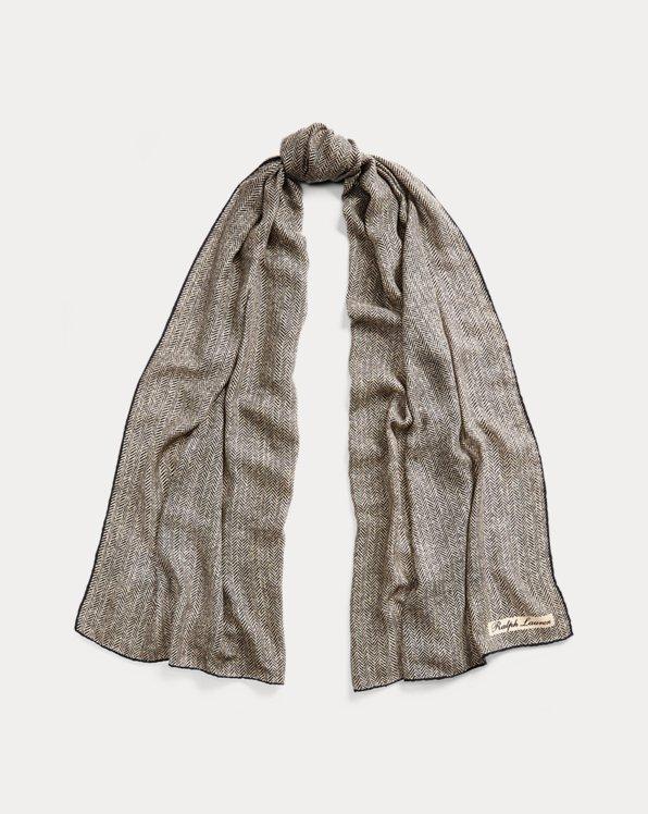 Bufanda de cachemira en espiga