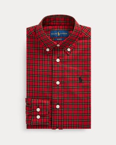 Slim Fit Tartan Cotton Shirt