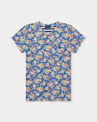 T-shirt court en jersey fleuri