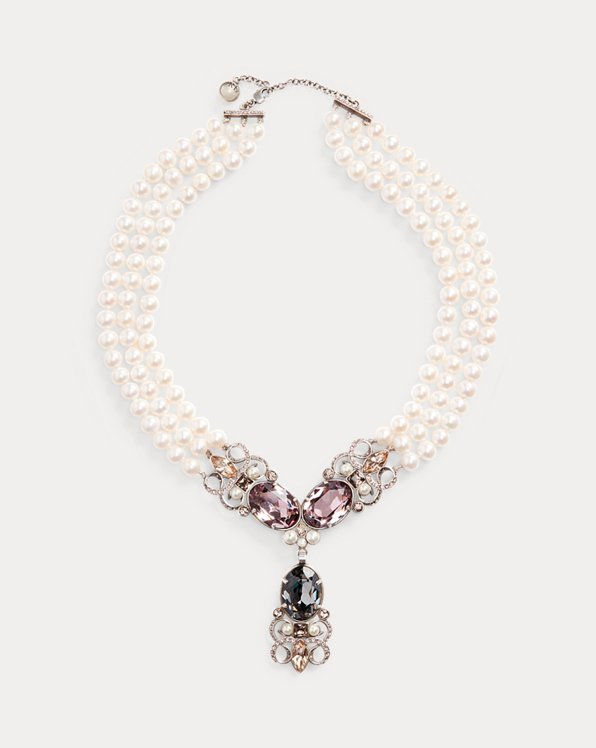 Jewelled Pearl Necklace