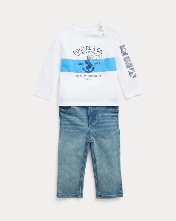 Ensemble t-shirt graphique et jean