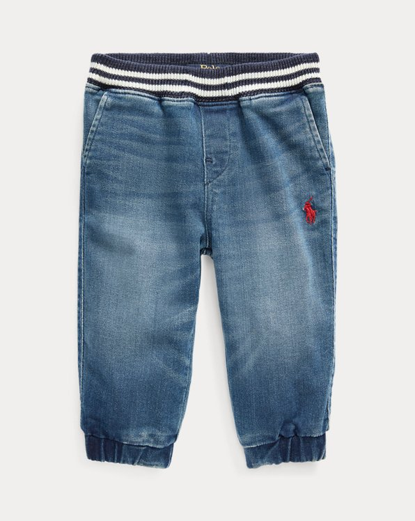 Pantalon de jogging denim stretch