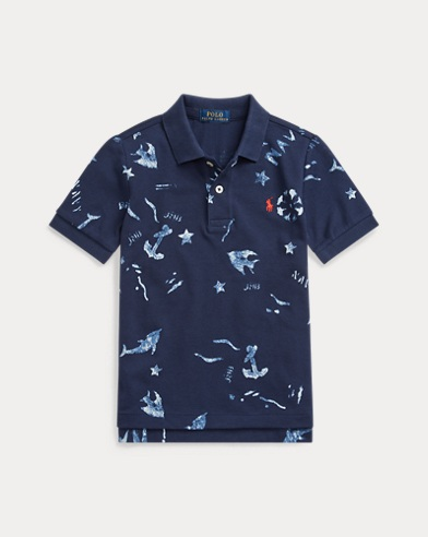 Nautical Cotton Mesh Polo