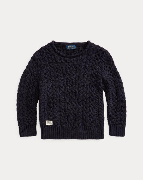 Pull en tricot d'Aran de coton