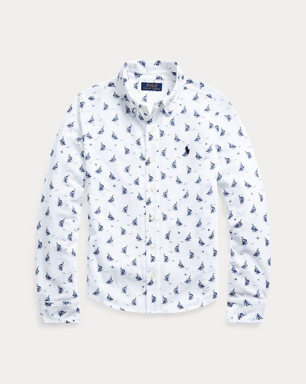 Chemise en piqué à motif voilier
