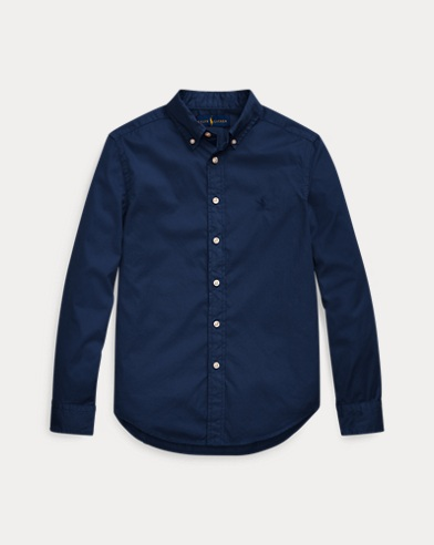 Garment-Dyed Twill Shirt
