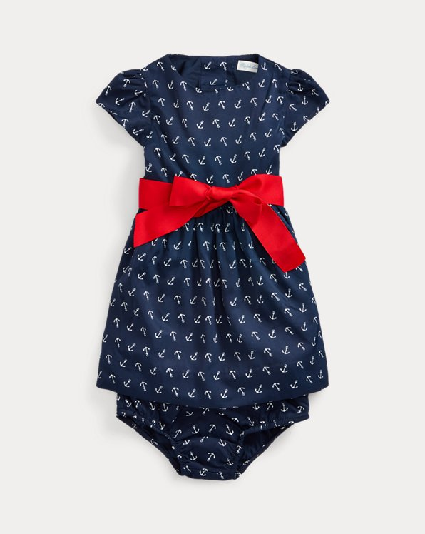 Anchor-Print Dress & Bloomer