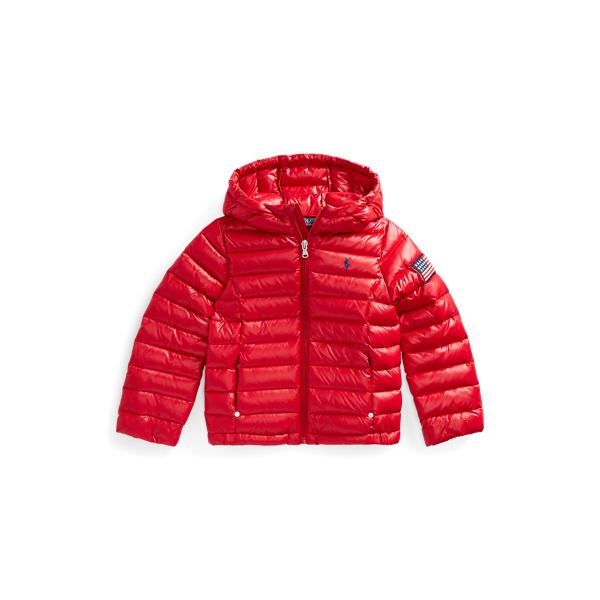 폴로 랄프로렌 여아용 패딩 Polo Ralph Lauren Packable Quilted Down Jacket,RL 2000 Red
