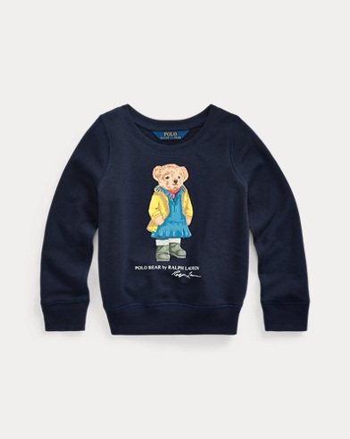 Terry-Pullover mit Raincoat Bear