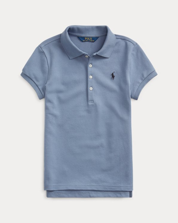 Stretch Cotton Mesh Polo Shirt