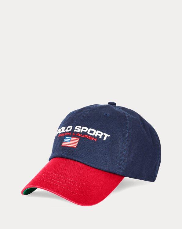 Kappe aus Baumwollchino mit Flagge